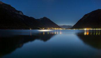 Achensee in Österreich bei Nacht