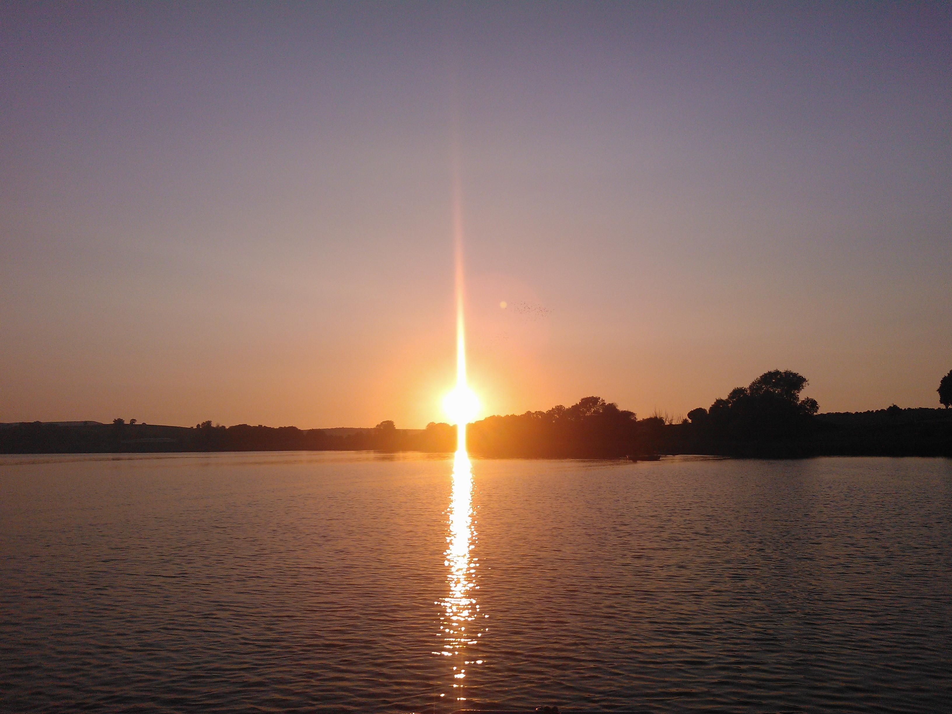 Der Seeburger See bei Sonnenuntergang.