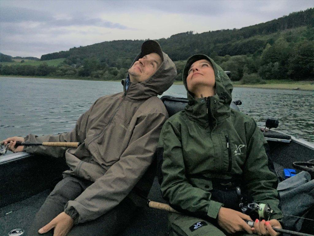 Claudia Darga träumt mit Wolfgang vom großen Fang