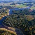 Luftaufnahme des Stausee Liebenstein in Bayern