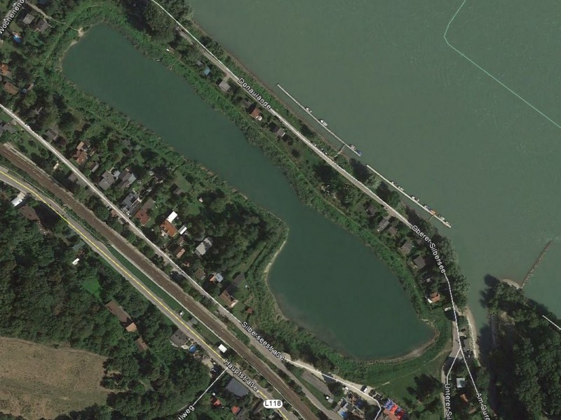 Luftbild vom Silbersee