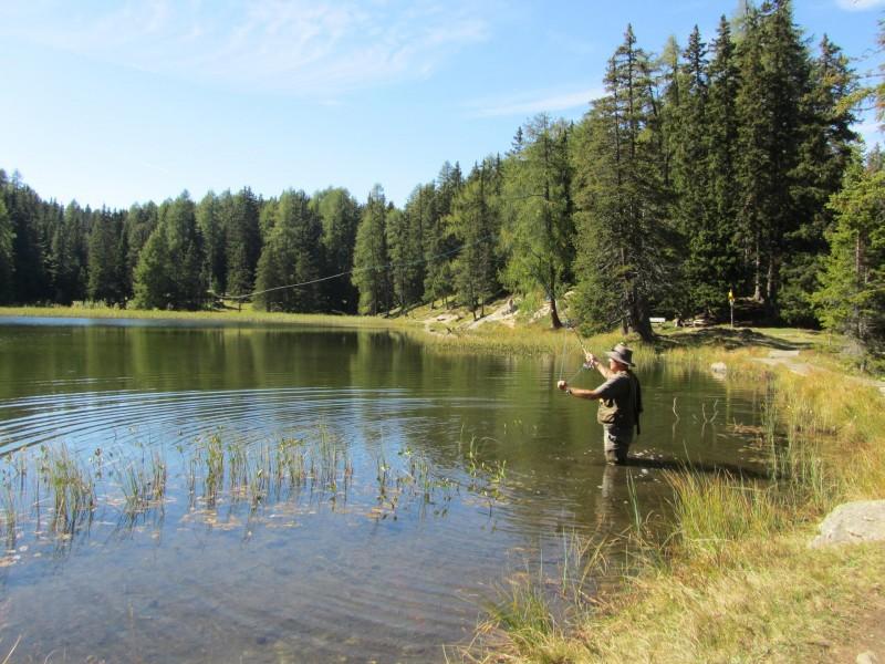 Fliegenfischer am Grünsee