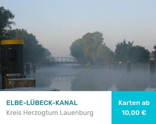 Elbe Lübeck Kanal mit Brücke