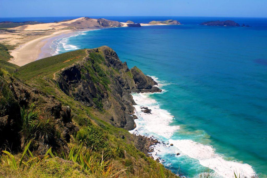 Foto der Neuseeländischen Küste