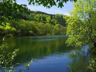 Die Lenne bei Werdohl in wunderschöner Umgebung.