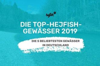 grafik fluss mit weißer beschriftung top-hejfish-gewässer 2019